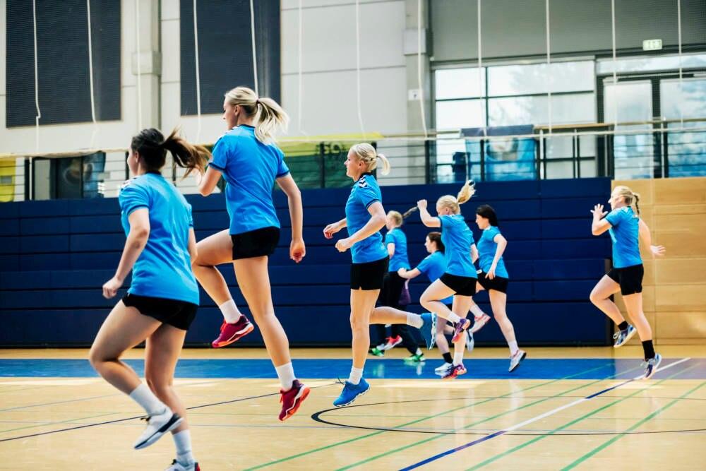 Aufwärmen beim Handball