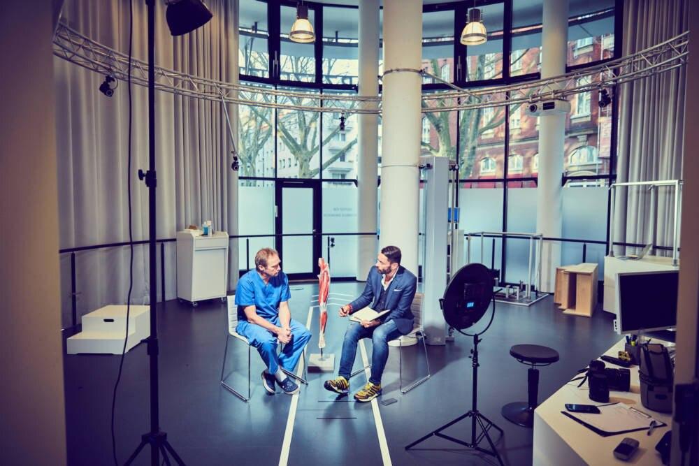 Dr. Thomas Stock und Mike Kleiß im Gespräch