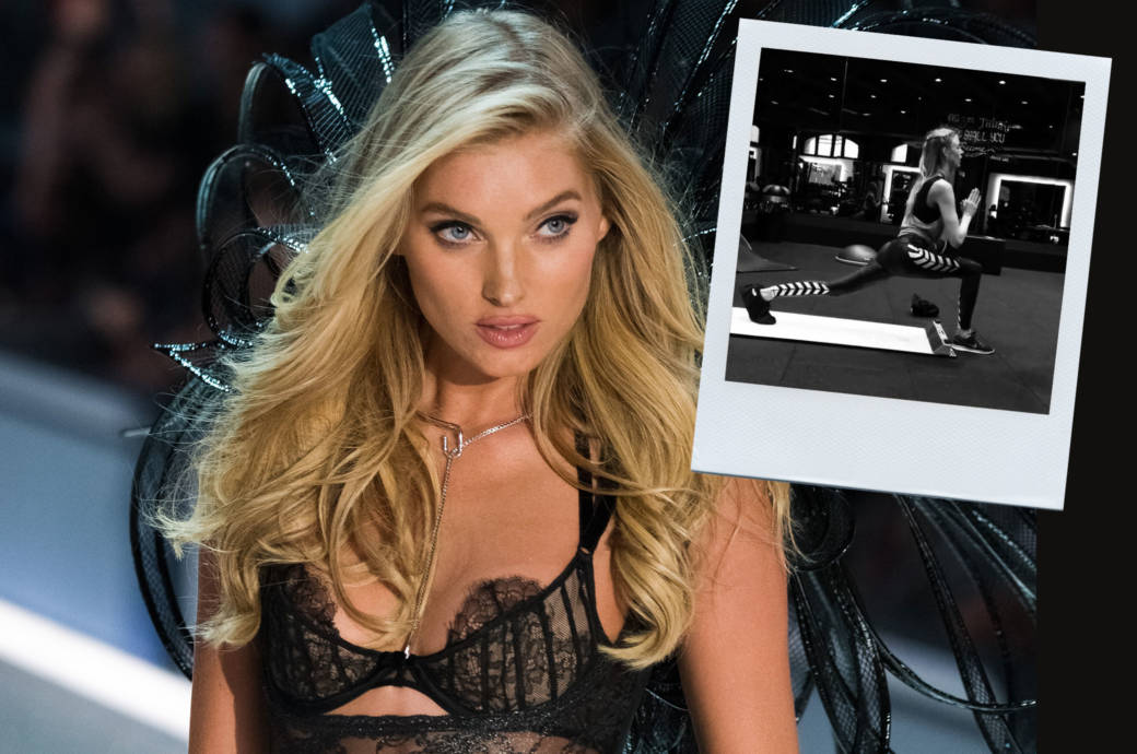 "Ein ""Victoria's Secret Angels""-Model neben einem Slide-Board"