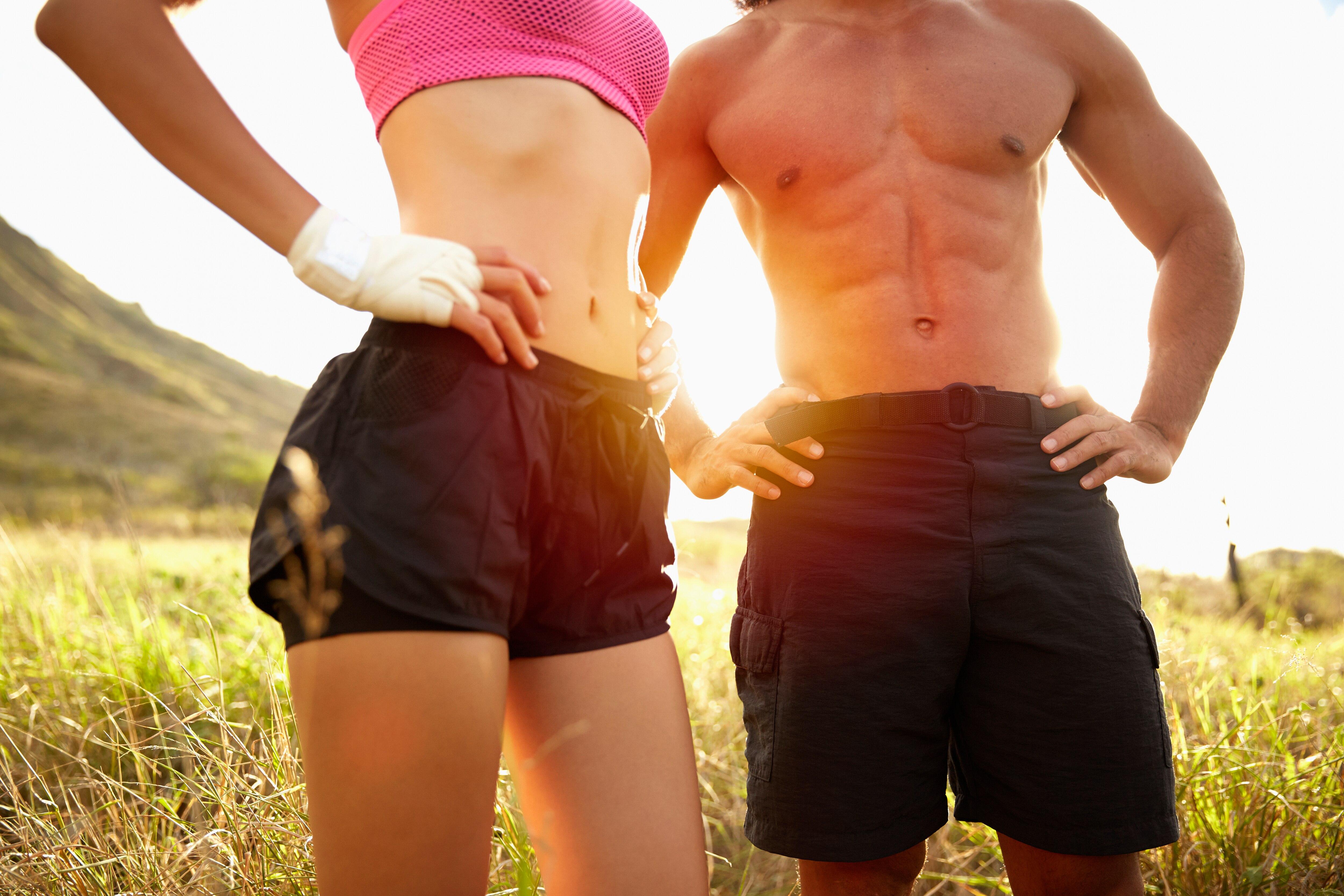Übungen zum Abnehmen des Bauches für Männer