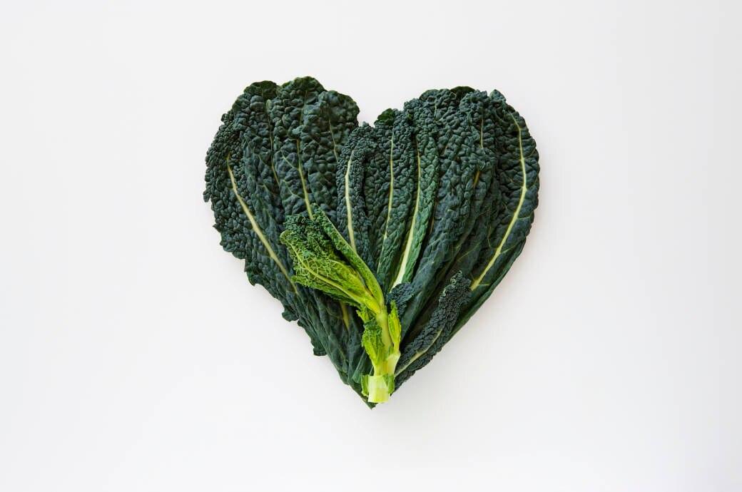 Grünkohl in Herzform