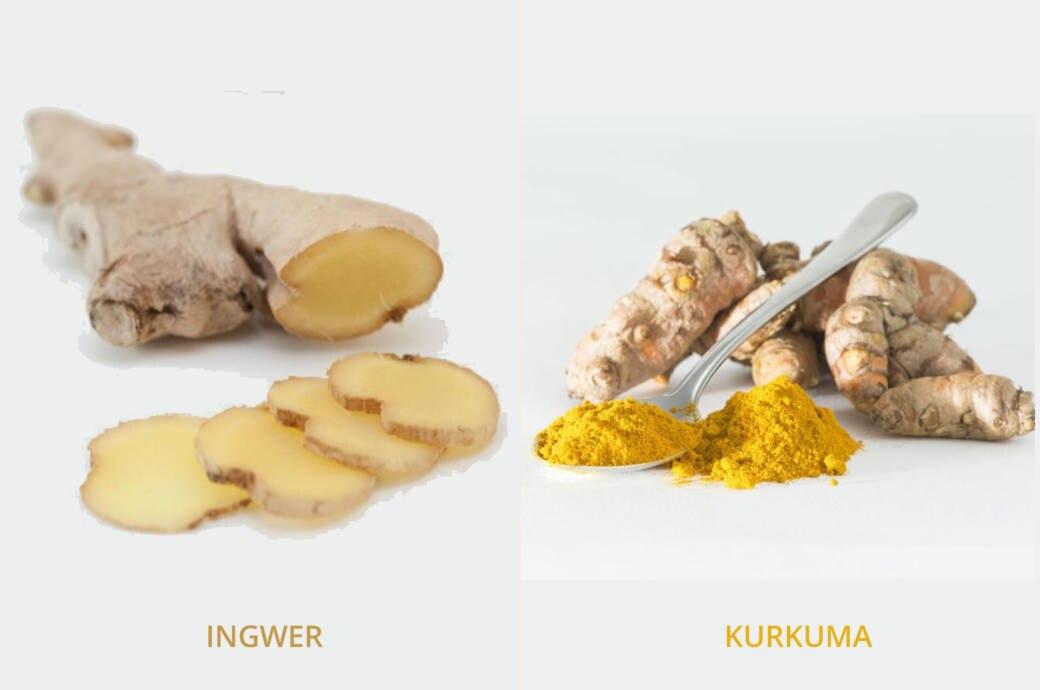 Ingwer und Kurkuma haben eine Reihe von gesundheitlichen Wirkungen