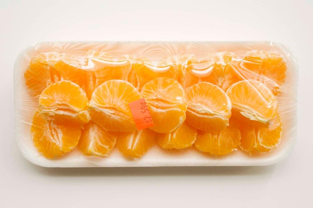 Abgepackte Orangen