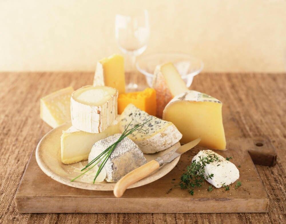 Eine leckere Käseplatte