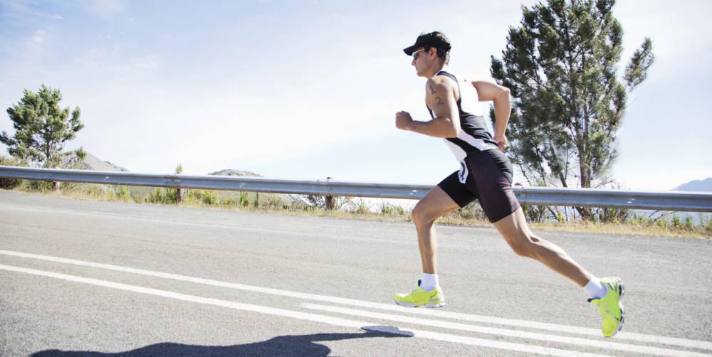 Triathlet beim Laufen