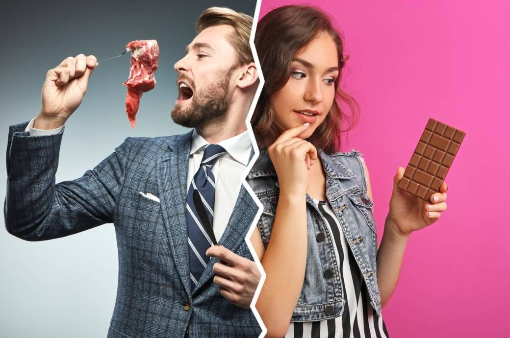 Essverhalten: Vergleich Männer gegen Frauen