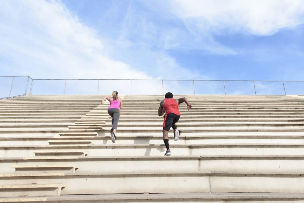 Treppensteigen als Workout