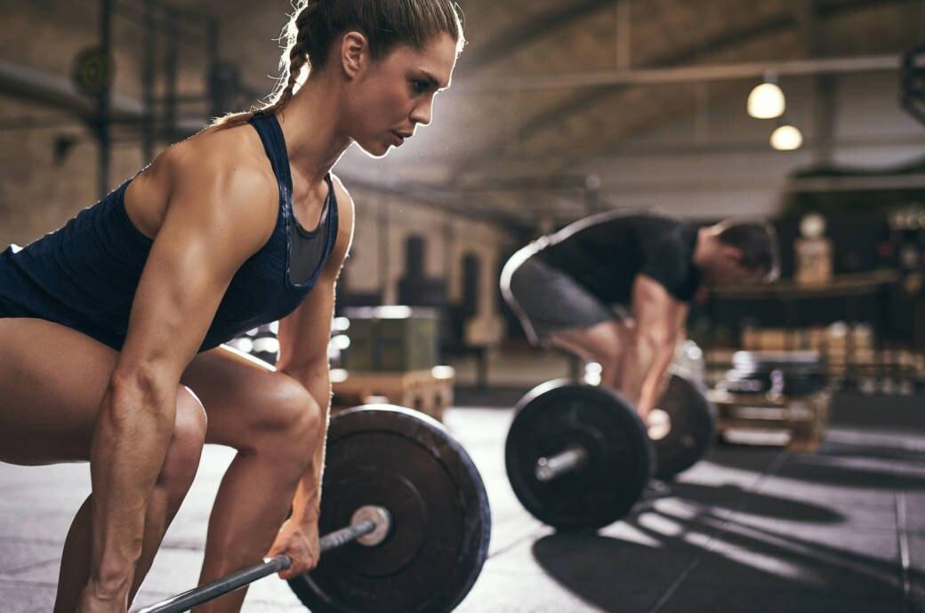 Athleten beim Gewichteheben