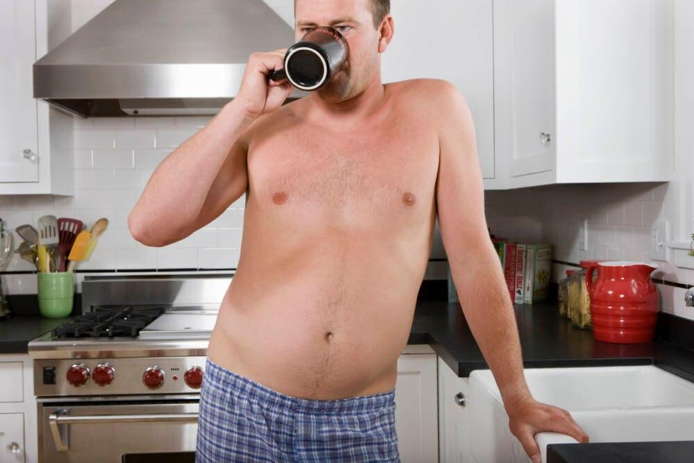 Mann mit Bauch