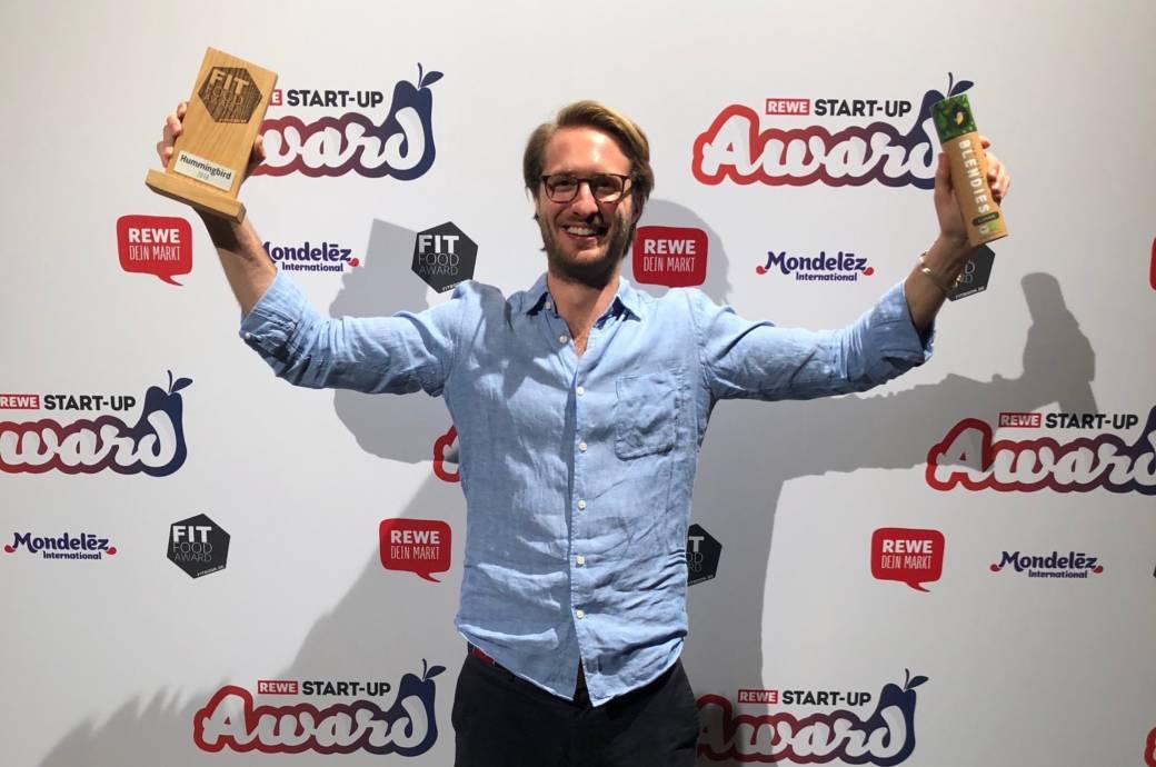 Benjamin Seer von Hummingbird freut sich über den Fitfood-Award 2018