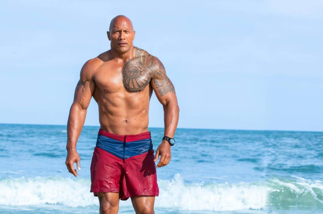 "Dwayne ""The Rock"" Johnson bei den Dreharbeiten zu Baywatch"