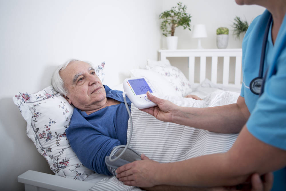 Patient im fortgeschrittenen Alter