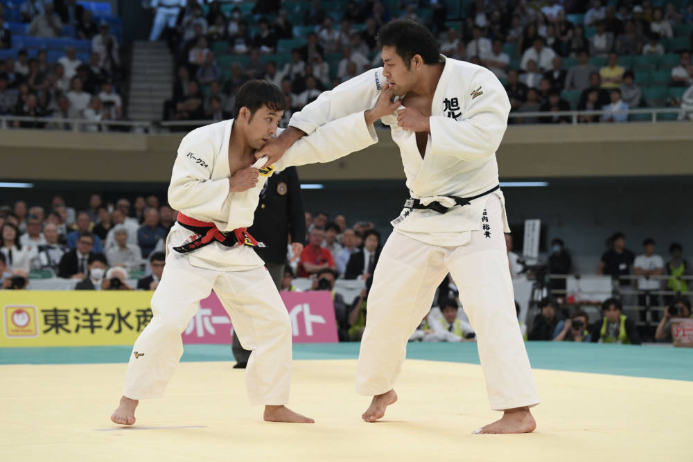 Zwei Judokas in Aktion