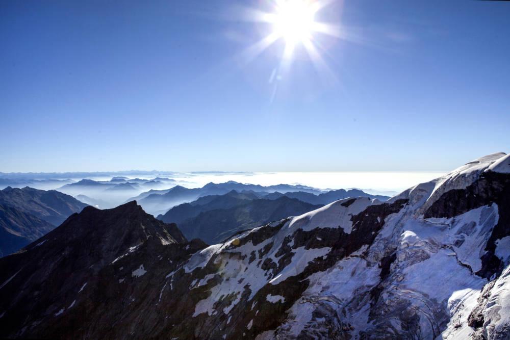 Alpenpanorama vom Monte Rosa aus