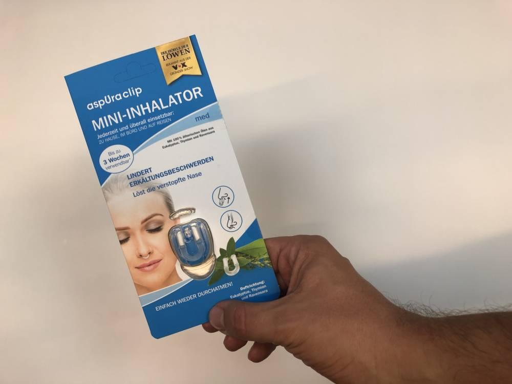 Aspura Clip in der Verpackung