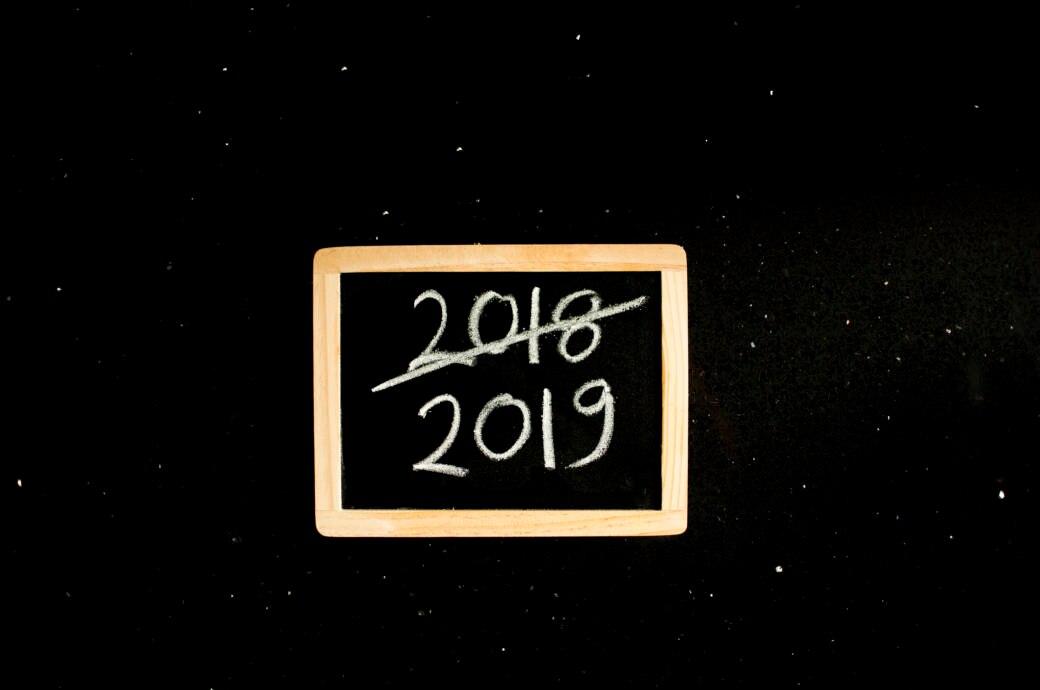 2018 ist durchgestrichen und darunter steht 2019