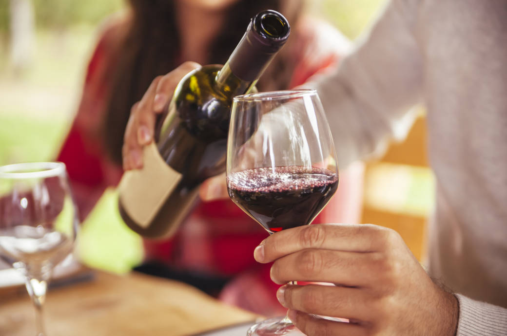 Flasche Wein