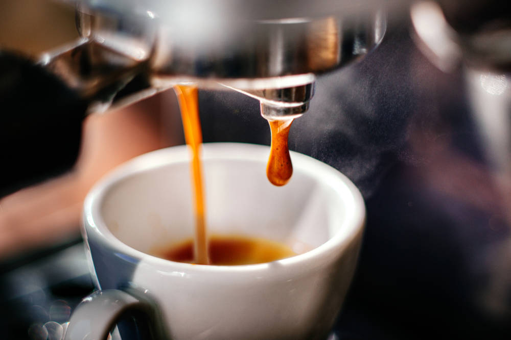 Eine Espresso-Tasse