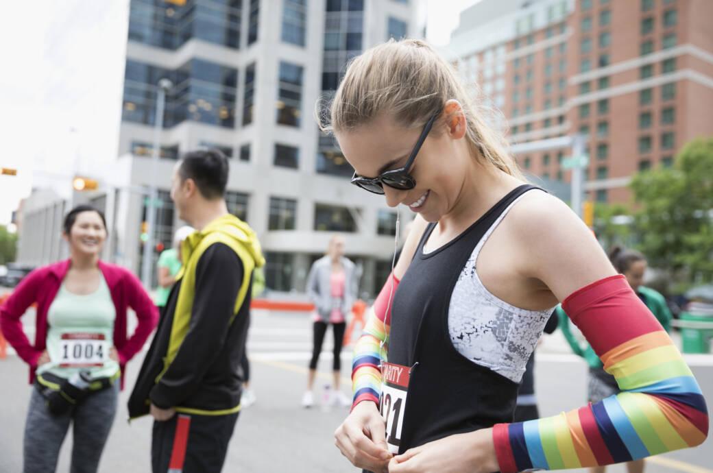 Frau beim Marathon