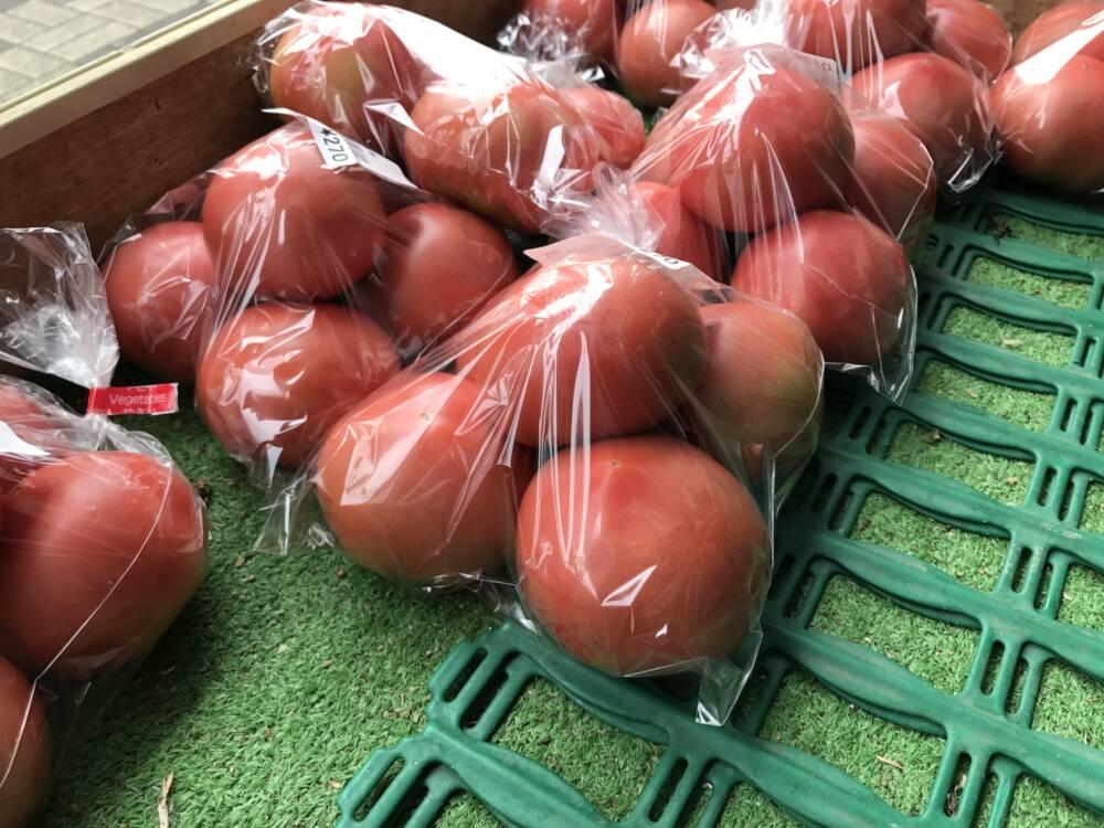 Eingepackte Tomaten
