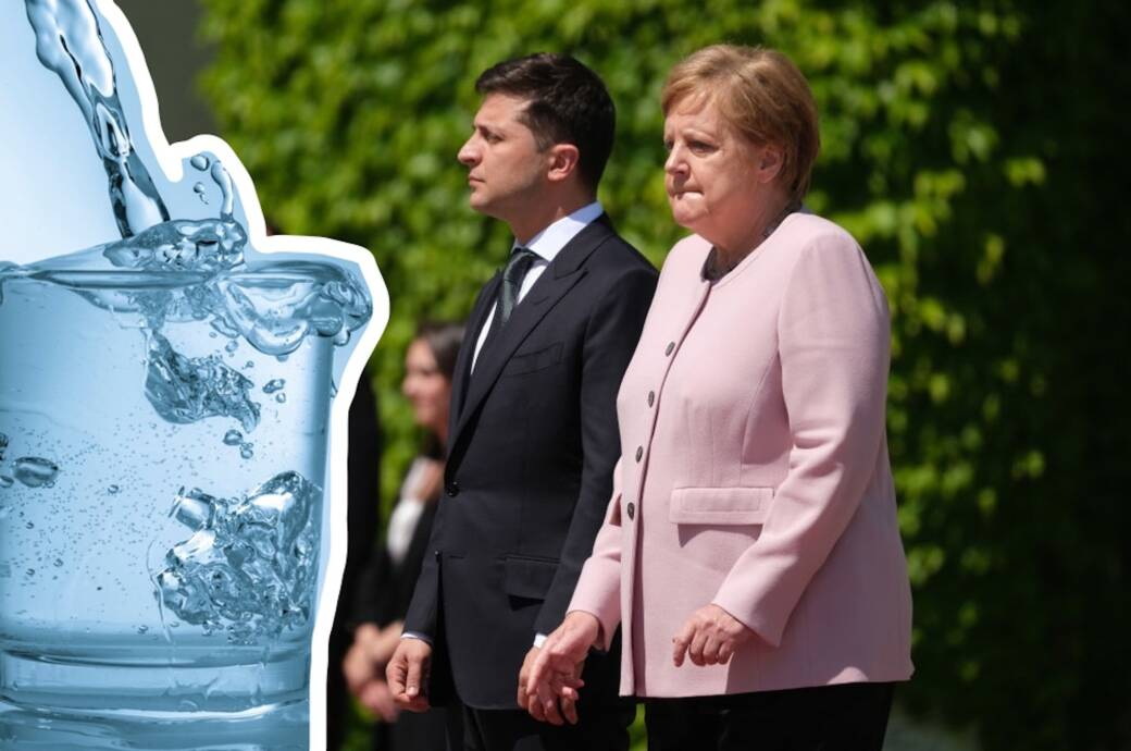Bundeskanzlerin Merkel und der ukrainische Präsident Selenskyi