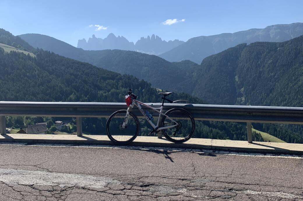 Rad auf der Plose in Südtirol