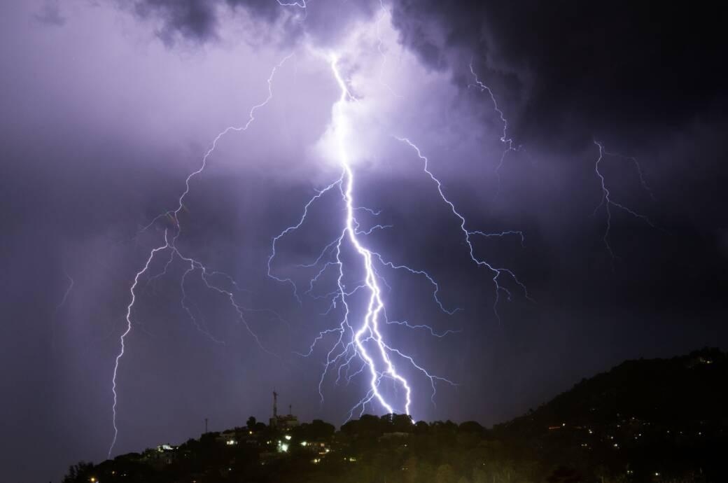 Ein Gewitter auf Haiti