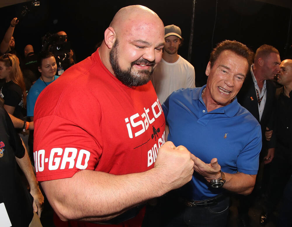 Brian Shaw und Arnold Schwarzenegger