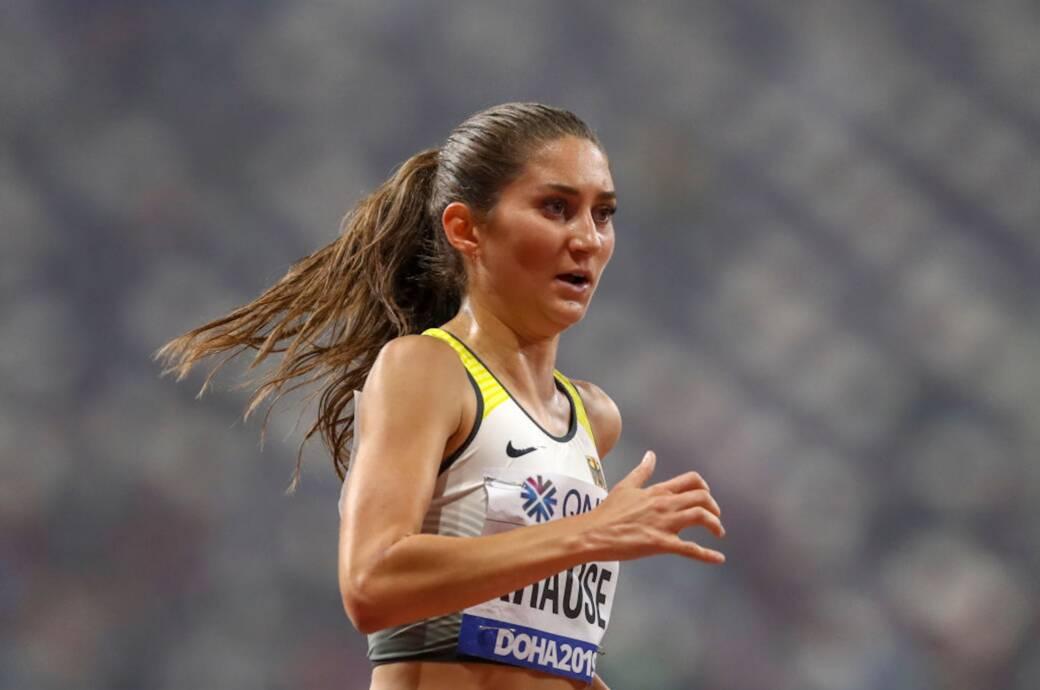 Gesa Krause bei der Leichtathletik-Weltmeisterschaft 2019 in Doha