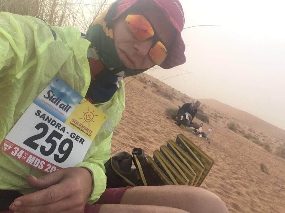 Sandra Wukovich beim Marathon des Sables