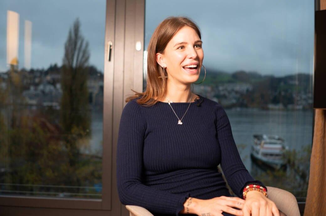 Anja Zeidler im Interview in Luzern