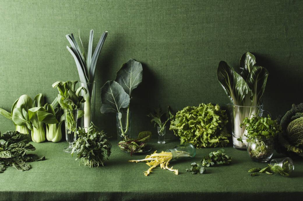 Auswahl grüner Gemüsesorten