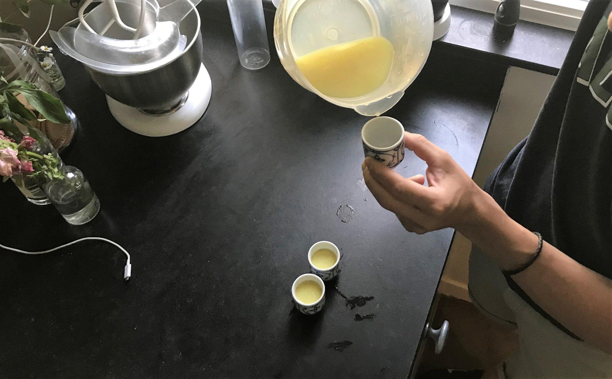 Zubereitung eines Ingwer-Shots