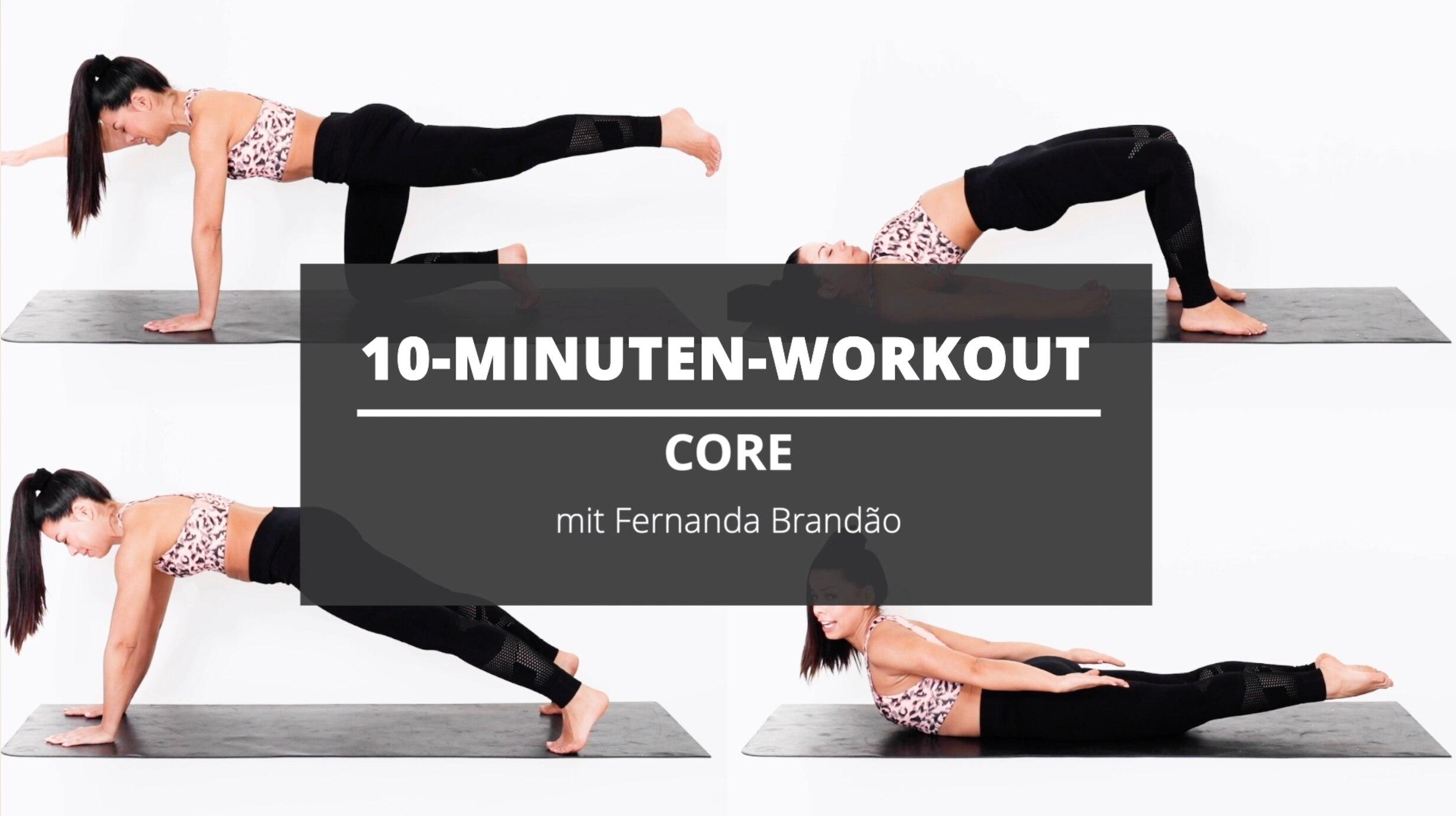 10-Minuten-Workout: Core-Training mit Yoga- und Pilates-Elementen