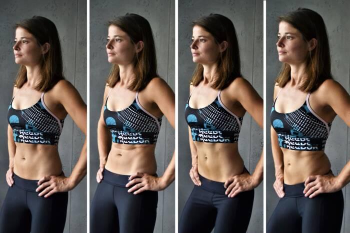 Fitnessexpertin Luise Walther beim Beckenkreisen