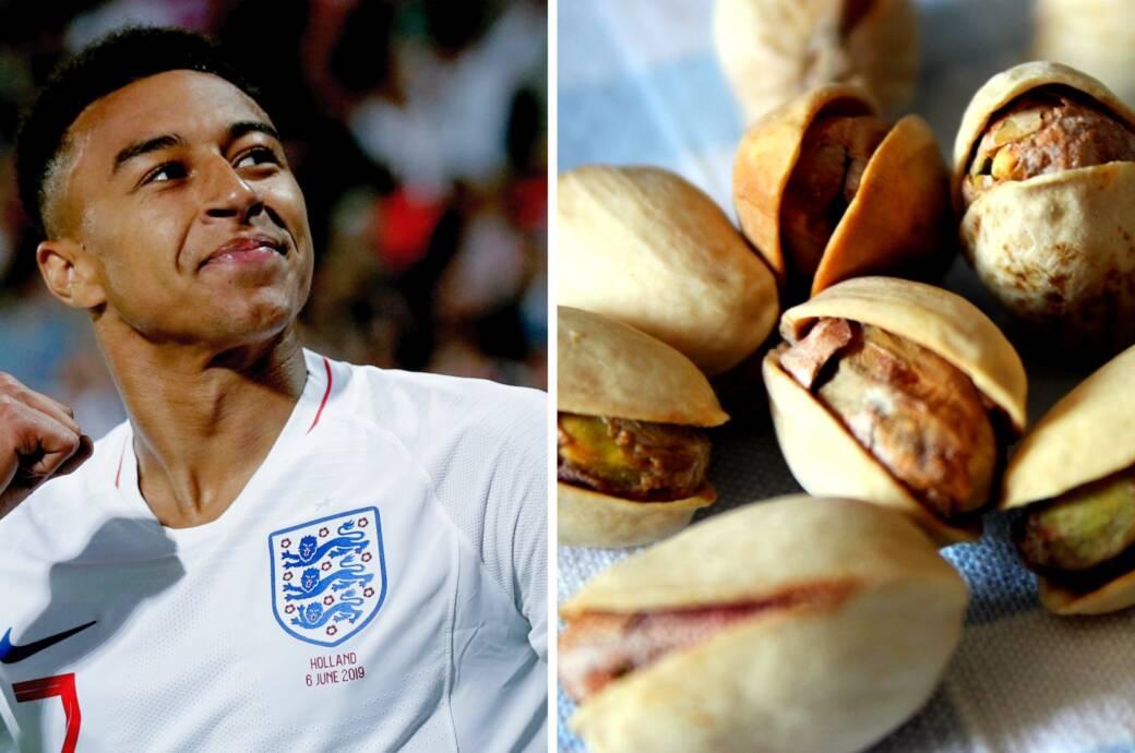 Jesse Lingard, Stürmer von Manchester United und englischer Nationalspieler, snackt gerne Pistazien
