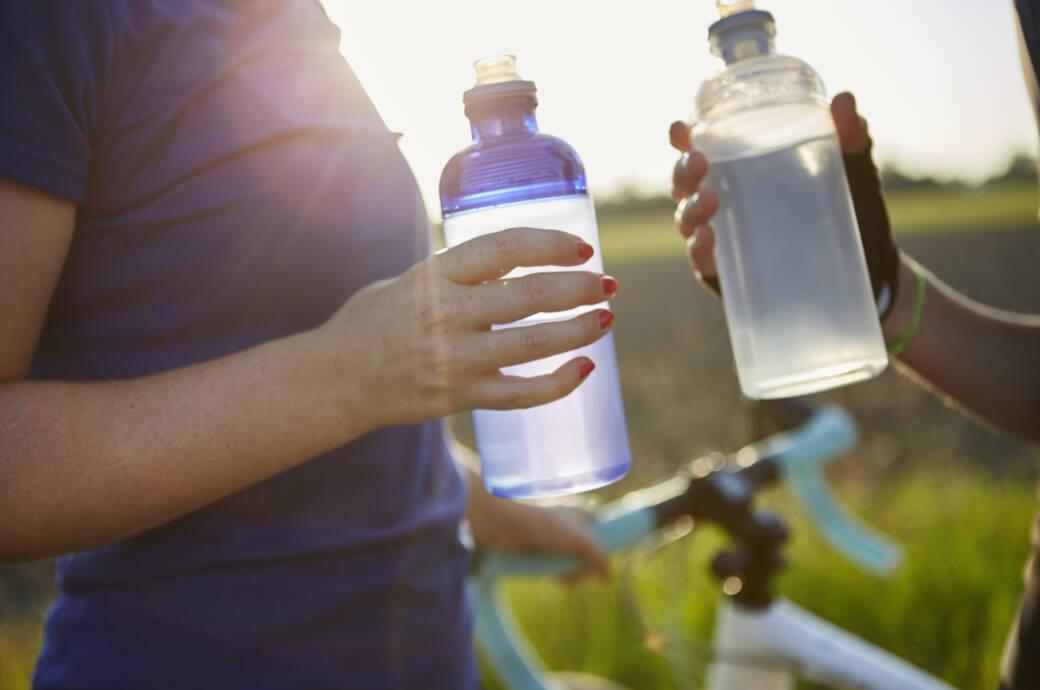Trinkflaschen beim Sport