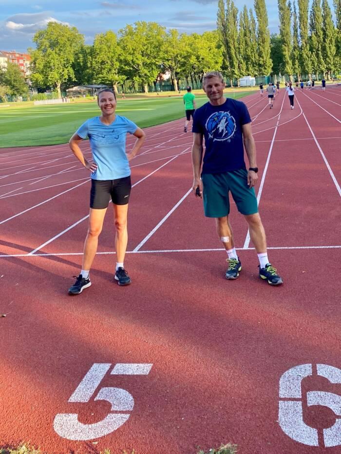 Mit dem Coach: Egidijus Pranckus lebt und arbeitet als 1:1-Athletiktrainer in Berlin