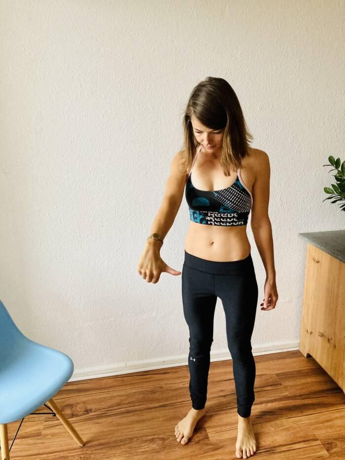 Übung zum Lösen von Nackenverspannungen