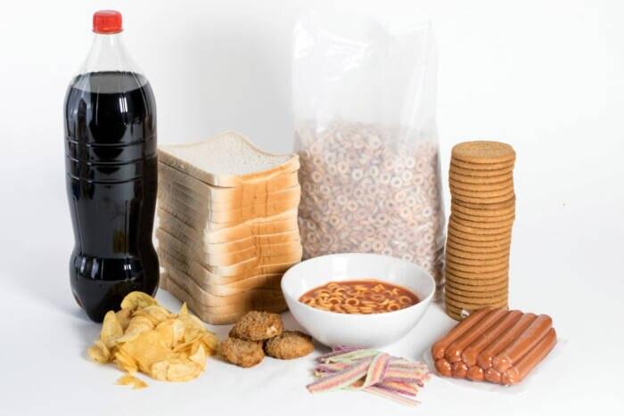 Stark verarbeitete Lebensmittel voller Zucker